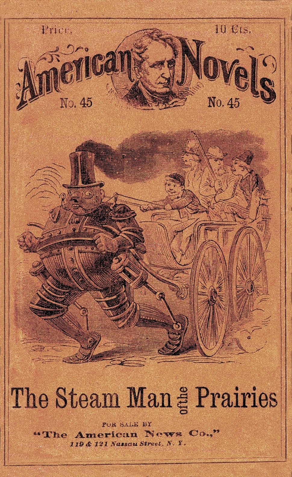 The steam man of the prairies (1868) big