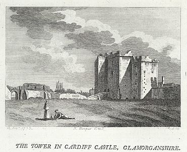 The tower in Cardiff castle, Glamorganshire.jpeg