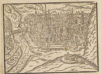Jean Titelouze - The city of Rouen in 1610. Titelouze spent most of his life here, working as organist of the Rouen Cathedral.