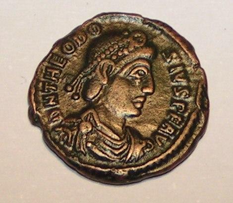 Theodosius I. Roman Coin