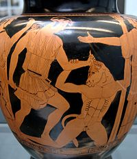 Thésée tuant le Minotaure (Stamnos)