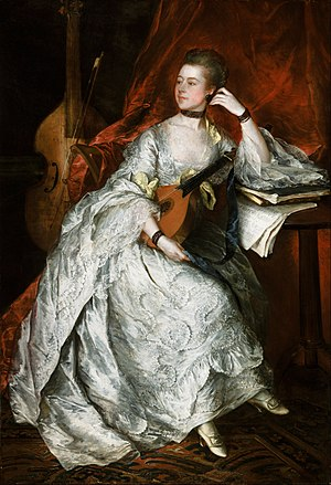 1760 in art - Image: Thomas Gainsborough Ann Ford (later Mrs. Philip Thicknesse) Google Art Project