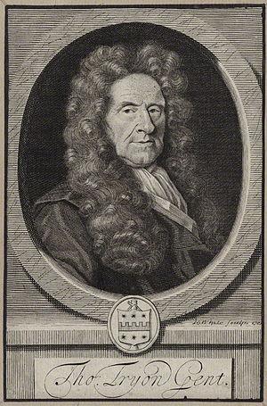 Thomas Tryon - Thomas Tryon, engraving by Robert White