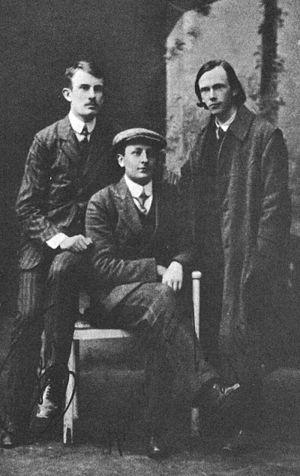 Tin Ujević, Krešo Kovačić i Ljubo Wiesner u Zagrebu, 1911.