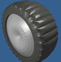 Rendered tire