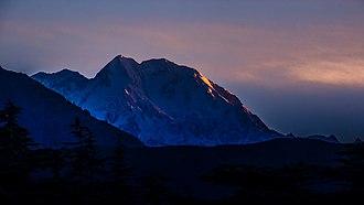 Tirich Mir - Tirich Mir summit at night