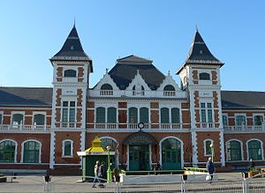 Miskolc Tiszai railway station - Main entrance of Tiszai Station