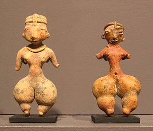 Mexican art - Female figurines from the Tlatilco culture, 1250 to 800 BCE.