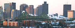 The Tobin Bridge, linking Chelsea and Boston
