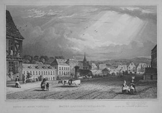Bad Schwalbach - Bad Schwalbach about 1832 in an engraving after Tombleson