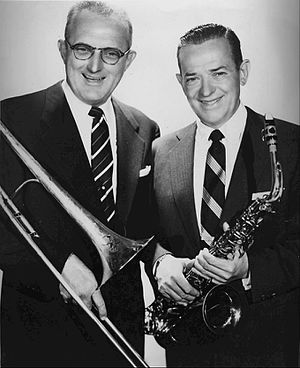 Jimmy Dorsey - Tommy (left) and Jimmy Dorsey in 1955