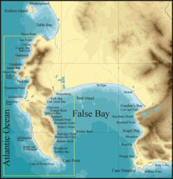 Topographical map Cape Peninsula and False Bay2.png