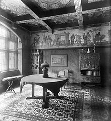 Photograph of the Tower House dining room