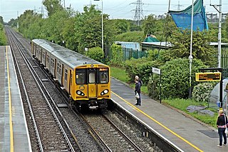 Capenhurst railway station Railway station on the Chester branch of the Wirral line in England