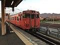Train for Takibe Station at Kajikuri-Godaichi Station.jpg
