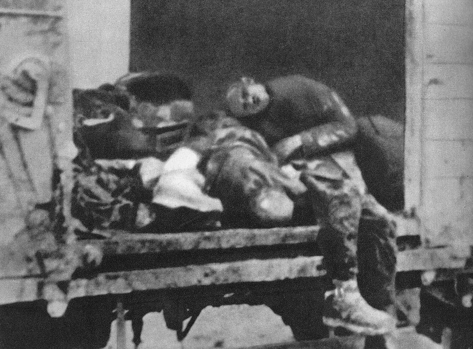 Train from Warsaw Ghetto at Treblinka August 1942