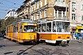 Tram in Sofia near Central mineral bath 2012 PD 052.jpg