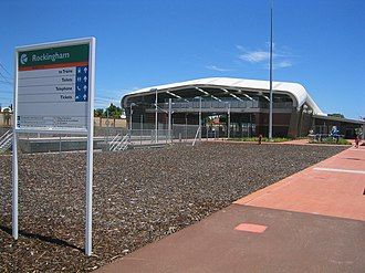Rockingham railway station, Perth - Station in December 2007