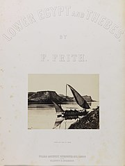 Travellers Boat at Ibrim (title page of book Lower Egypt and Thebes) (3588908274).jpg