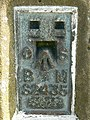 Triangulation pillar, Charlbury Hill, Wiltshire identification plate - geograph.org.uk - 389400.jpg
