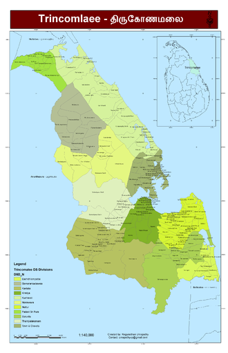 Trincomalee District - Image: Trincomalee District A3