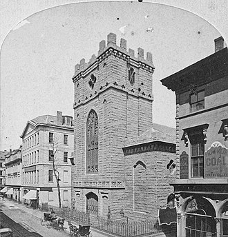 Trinity Church, Boston (Summer Street) - Trinity Church on Summer St., 19th century