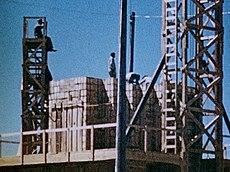 Trinity Test - 100 Ton Test - High Explosive Stack 002