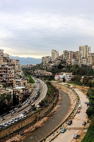 Tripoli, Lebanon - The walled Nahr Abu Ali at Tripoli