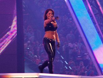 Trish Stratus - Trish making her entrance at WrestleMania XXVII in April 2011