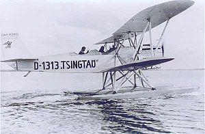 "Heinkel HD 24 - Plüschow's seaplane, the Heinkel HD 24 ""Tsingtau"""
