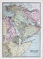 Turkey in Asia, Persia, Arabia, Egypt and Nile Countries 1873 Atlas map by John Bartholomew (retouched).jpg