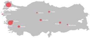 Turkish wine - Wine-producing regions in Turkey.