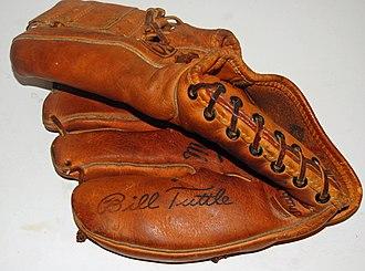 Bill Tuttle - Bill Tuttle signature baseball glove, circa 1964
