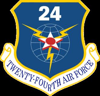 Twenty-Fourth Air Force - Image: Twenty Fourth Air Force Emblem