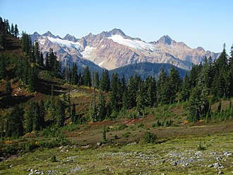 Twin Sisters Mountain - As seen from southern flank of Mount Baker