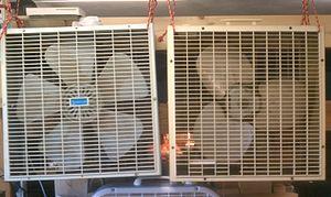 Fan (machine) - Two c. 1980 box fans
