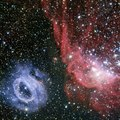 Two very different glowing gas clouds in the Large Magellanic Cloud.tiff