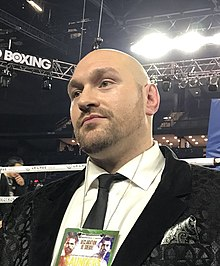 Tyson Fury at Place Bell, Laval Quebec, Canada - Dec 16 2017 (cropped).jpg