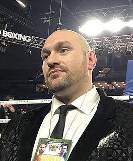 Tyson Fury British boxer