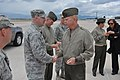 U.S. Marine Corps Gen. James F. Amos, right, commandant of the Marine Corps, shakes hands with a U.S. Airman after attending the 2011 Warrior Games at the U.S. Olympic Training Center in Colorado Springs, Colo. 110519-M-HQ440-466.jpg