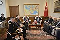 U.S. Secretary of Defense Chuck Hagel, center left, meets with Turkish Minister of National Defense Ismet Yilmaz, center right, at the Ministry of National Defense in Ankara, Turkey, Sept 140908-D-NI589-829.jpg