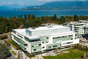 Peter A. Allard School of Law - Aerial view of Allard Hall in Vancouver, British Columbia (Canada)
