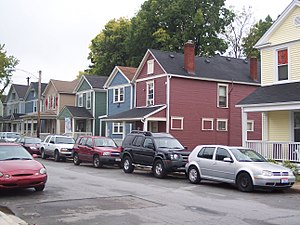 University of Dayton Ghetto - The 200 block of Kiefaber Street in the University of Dayton Ghetto in Dayton, Ohio