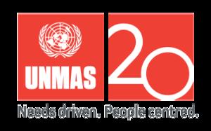 United Nations Mine Action Service - Image: UNMAS 20 logo gray tagline