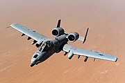 USAF A-10 Thunderbolt II after taking on fuel over Afghanistan