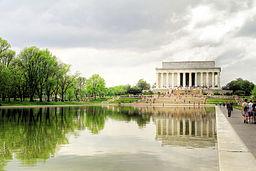 Lincoln memorial reflecting pool wikipedia la for Estanque reflectante
