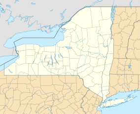 Map. Shows New York State and bordering regions of other states and of Ontario Province in Canada.