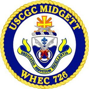 USCGC Midgett (WHEC-726) - Image: USCGC Midgett crest