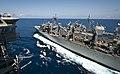 USNS Rainier conducts replenishment-at-sea. (8721195568).jpg
