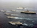 USS Coral Sea (CV-43) battle group underway in May 1986.jpg